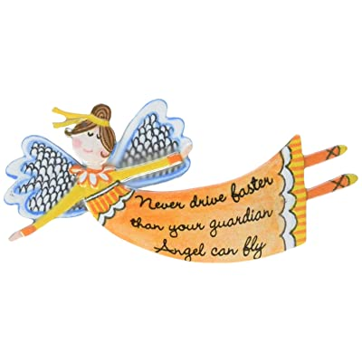 Cathedral Art Never Drive Faster Than Your Guardian Angel Can Fly Visor Clip: Home & Kitchen