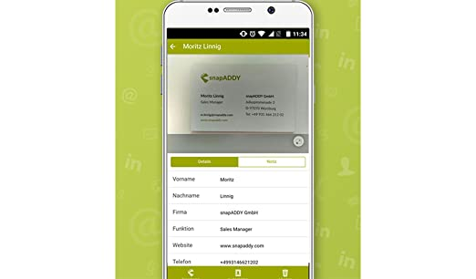 Amazon Com Snapaddy Business Card Scanner Appstore For Android