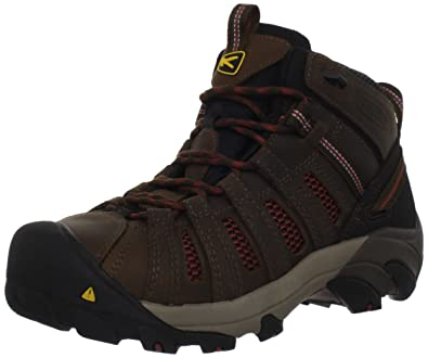 KEEN Utility Men's Steel Toe Flint Mid Work Boot, Slate Black/Burnt Henna,