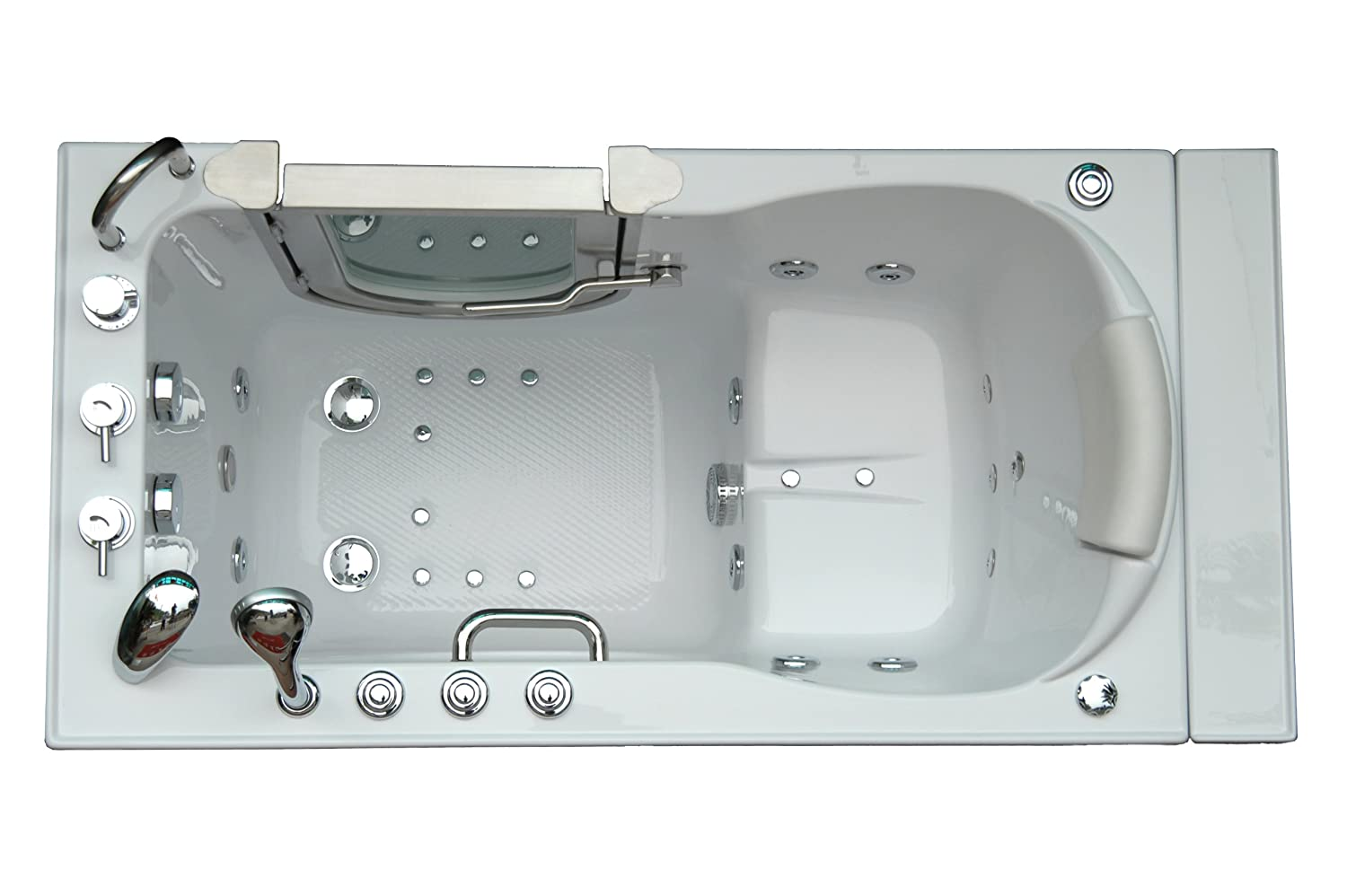 Amazon.com: Deluxe Dual Massage Acrylic Walk In Bathtub -ETL ...