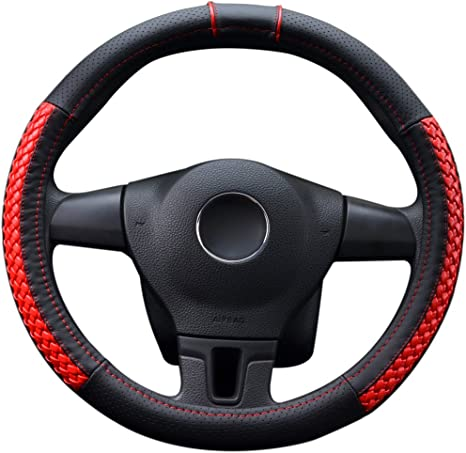 Italian Leather Steering Wheel Cover fit SUBARU