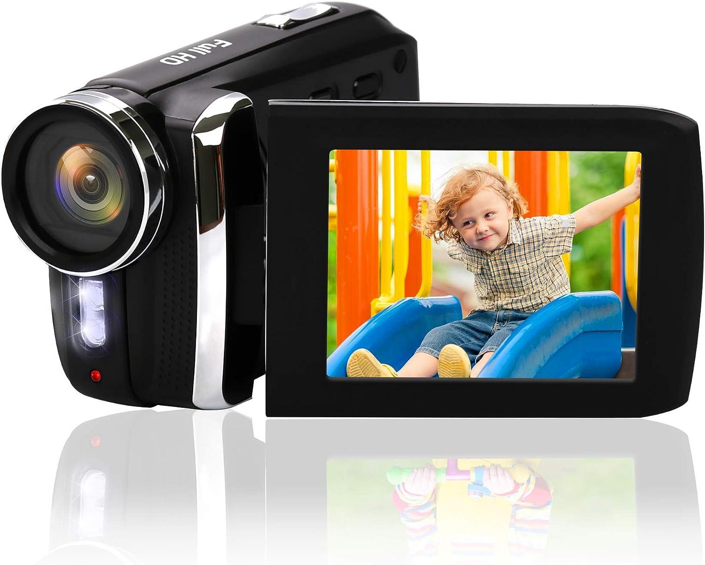 Mini cam/éra vid/éo 1080P HD 12MP//2.8 LCD//Batterie Rechargeable//Zoom num/érique 8X Camcorder Heegomn Cam/éscope num/érique d/ébutant pour Enfants//Enfants//Adolescents