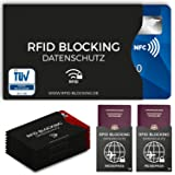 BLOCKARD Rfid Blocking Nfc Protection Sleeve - 12 Pieces for Credit Card, Identity Bank Eu Passport - Credit-Cards Against Data Skimming