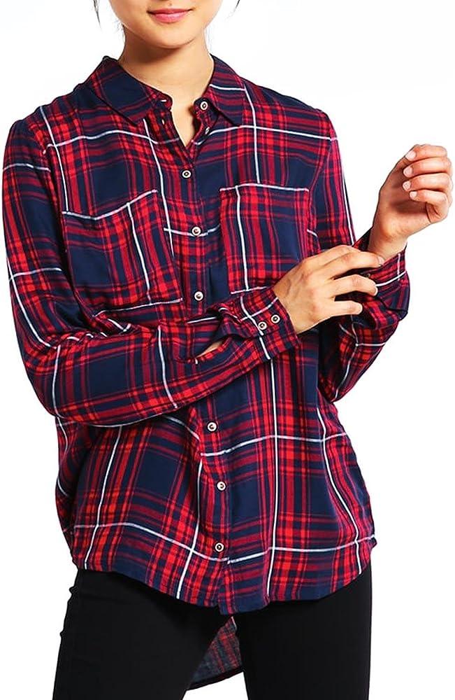 Camisa Only June Roja 42 Rojo: Amazon.es: Ropa y accesorios