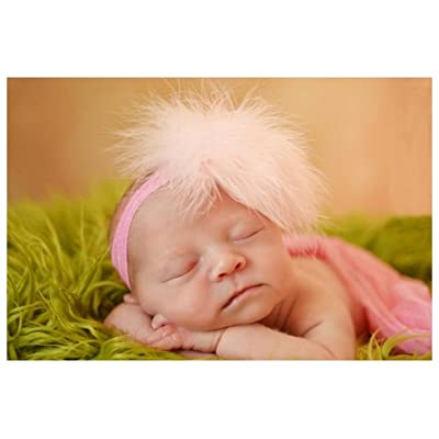 Candy Pink Flowerette Burst with Pale Pink Small Regular Marabou, Size: 3-6m
