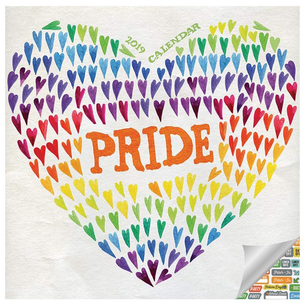 Pride Month Calendar 2019.Pride Calendar 2019 Set Deluxe 2019 Gay Pride Wall Calendar Bundle With Over 100 Calendar Stickers Gay Pride Accessories And Gifts