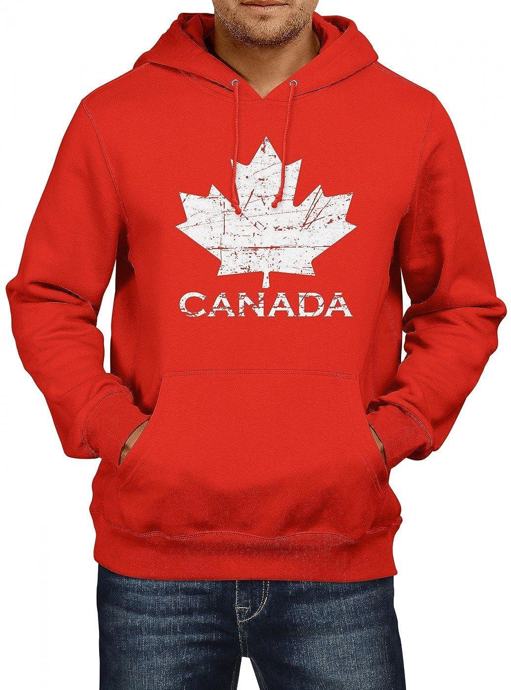 Canada Maple Leaf Premium Hoodie Kanada Flagge Ahornblatt Herren Kapuzenpullover