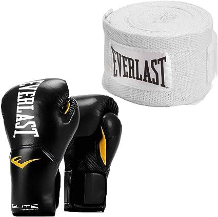 Everlast Elite Pro Style Leather Training Boxing Gloves Size 8 Ounces Pink