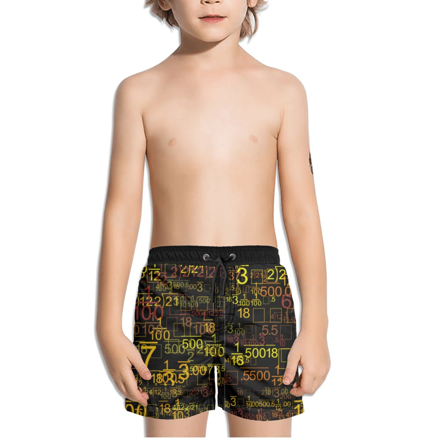 Trum Namii Boys Quick Dry Swim Trunks Math Equations Algebra Problems Shorts
