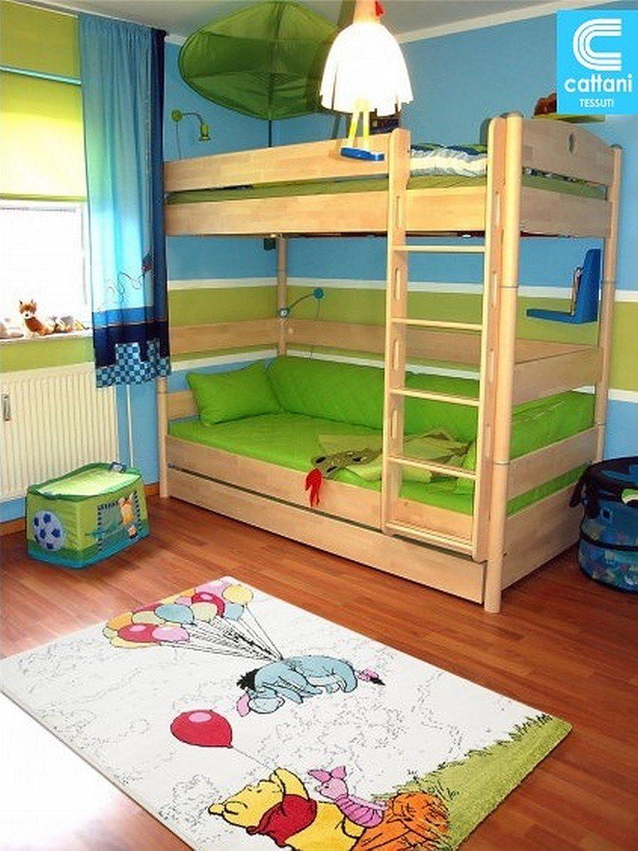 Teppich für Kinderzimmer – Disney Winnie The Pooh – Größe cm 67 x 140 – 80 x 150 – 100 x 150 – 120 x 170 – Kurzflor 13 mm
