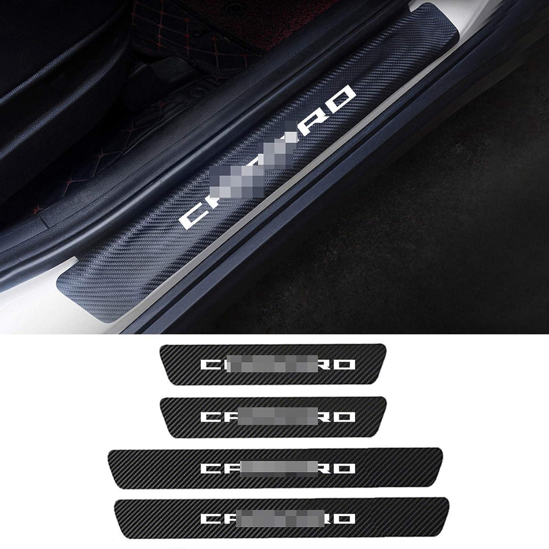 JzyhNzd F/ür Chevrolet Camaro 2010-2018 2019 2020 4PCS Carbon Fiber T/ürschwellenschutz Autot/ürschweller Abnutzungsplatte Pedalabdeckung Aufkleber