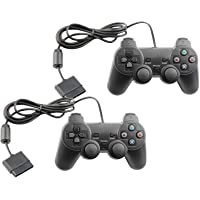 Controller for PS2 Playstation 2 Wired (Orange) - 2 Pack
