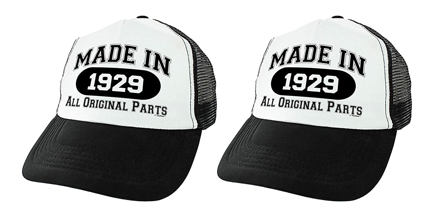 Amazon 90th Birthday Gifts Made In 1929 All Original Parts Bday Hat Turning 90 Party Trucker Black Clothing
