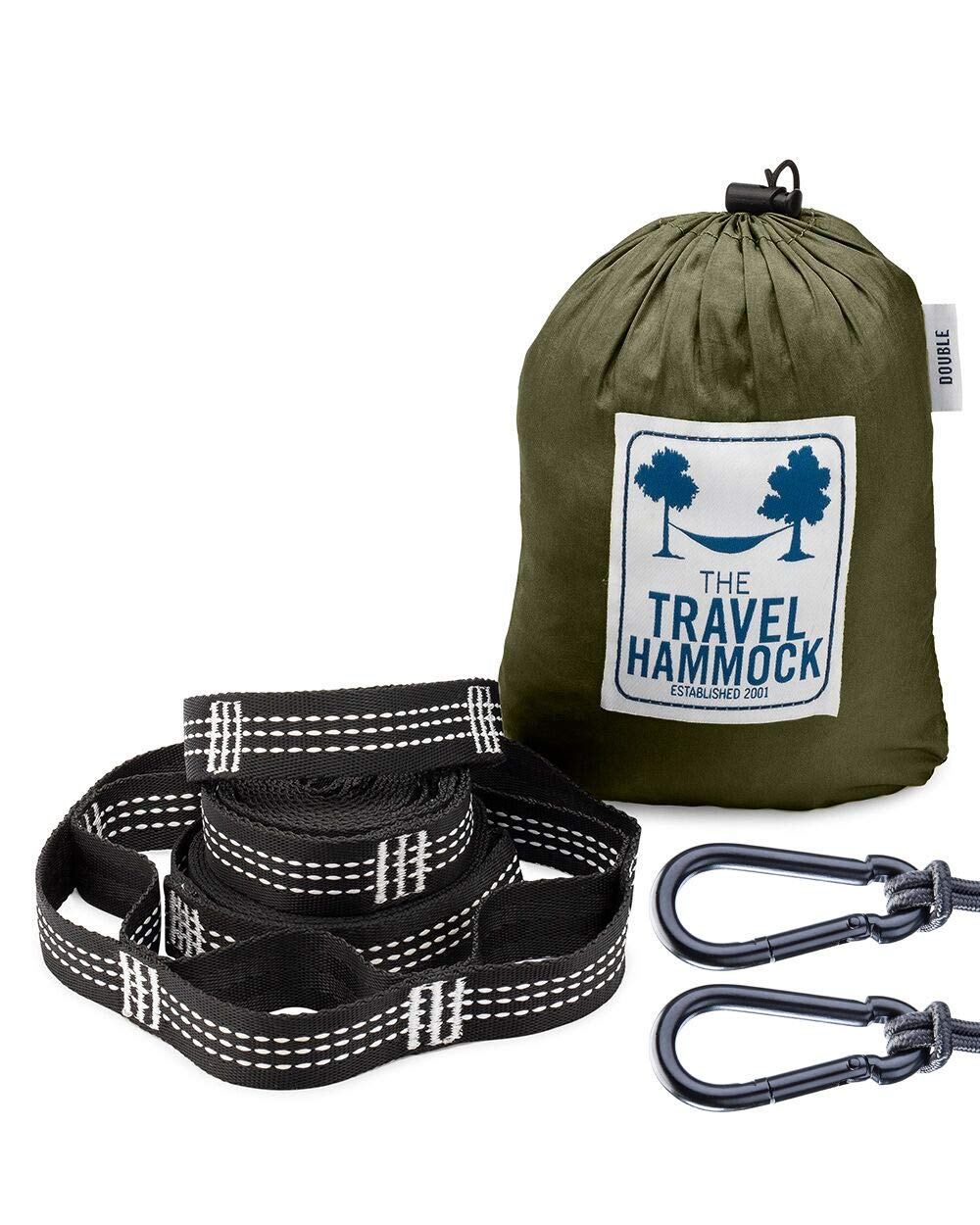 The Original Travel Hammock Double Hammock with Straps Lightweight Parachute Nylon Hammock, Best for Backpacking, Beach, Camping and Travel