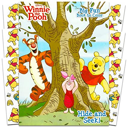 Amazon.com: Winnie the Pooh Coloring Book with Stickers ~ 96-page ...
