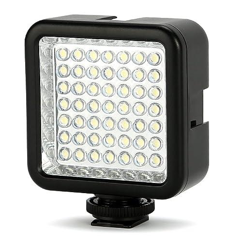 Koolertron LED 49 Continuous On Camera LED Panel Light, Portable Dimmable Camera Camcorder Led Panel Video Light for DSLR Camera Canon, Nikon, Sony, Panasonic, Olypus, Fuji etc