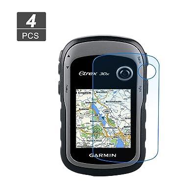 [4 piezas] LFOTPP Protector de Pantalla para Garmin Etrex 10 20x 30x 10J 20J 30J GPS Pelicula Protectora de Cristal Templado - 9H Anti-arañazos Transparente