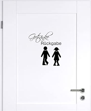 Getränke Rückgabe WC Badezimmer Toilette Wandtattoo Tattoo ...