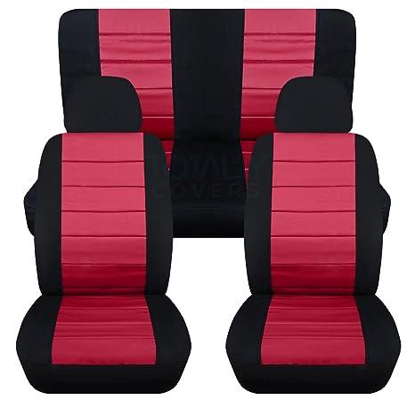 Amazon.com: Fundas para asientos de coche de 2 tonos con 2 ...