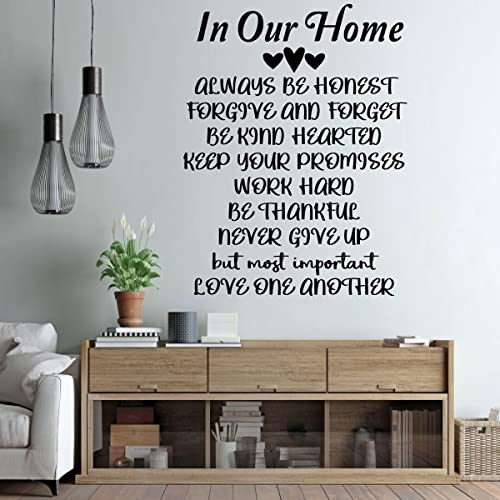 Amazon.com: Family Rules Wall Decor - Vinyl Lettering for ...