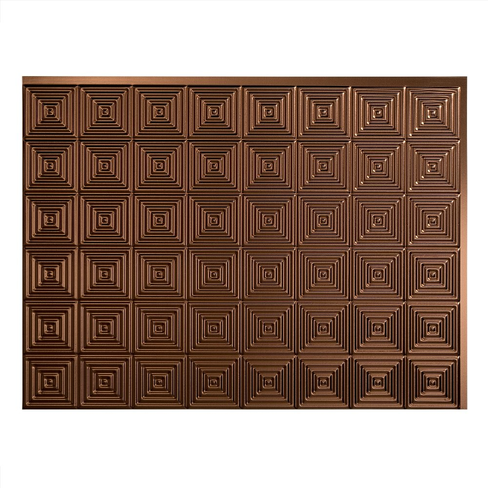 Fasade Easy Installation Miniquattro Oil-Rubbed Bronze Backsplash Panel for Kitchen and Bathrooms (18 sq ft Kit) by Fasade