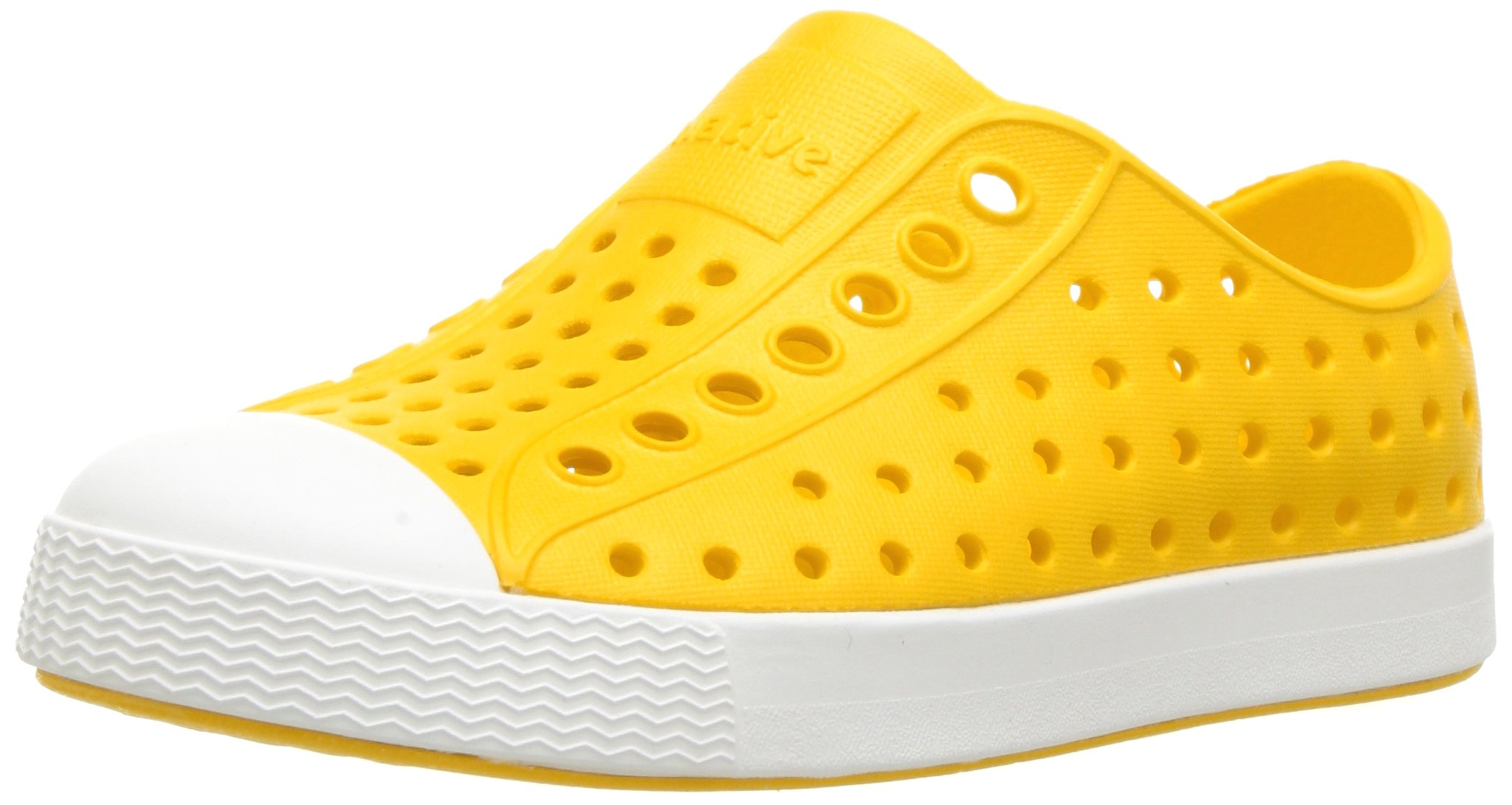 Native Unisex-baby Jefferson Water Proof Shoes, Crayon Yellow/Shell White, 5 Medium US Toddler