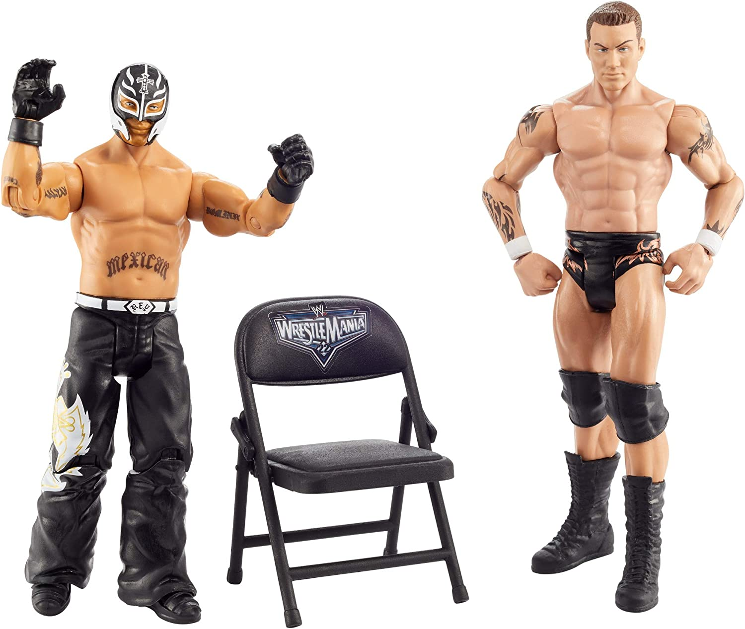 WWE Wrestlemania 2-Pack with 6-inch (15.24) Action Figures, Rey Mysterio & Randy Orton
