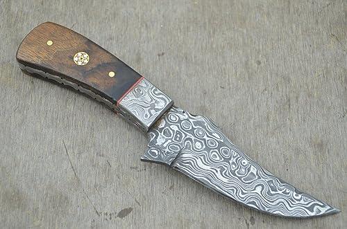 Leather-n-Dagger Sale Professional Custom Handmade Damascus Steel Skinner Hunting Knife