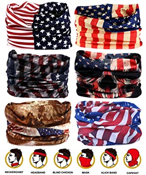 Creative Magic Polyester Bandana Microfiber Headwear Seamless Tubular Hijab Neck Tube Sports Scarf Mask Headband Motorcycle Kerchief Apparel Accessories