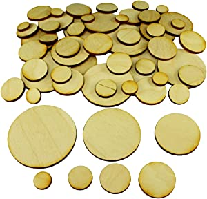 LITKO Miniature Bases, Circular Metric Base Sampler, Laser Cut 3mm Plywood (56)