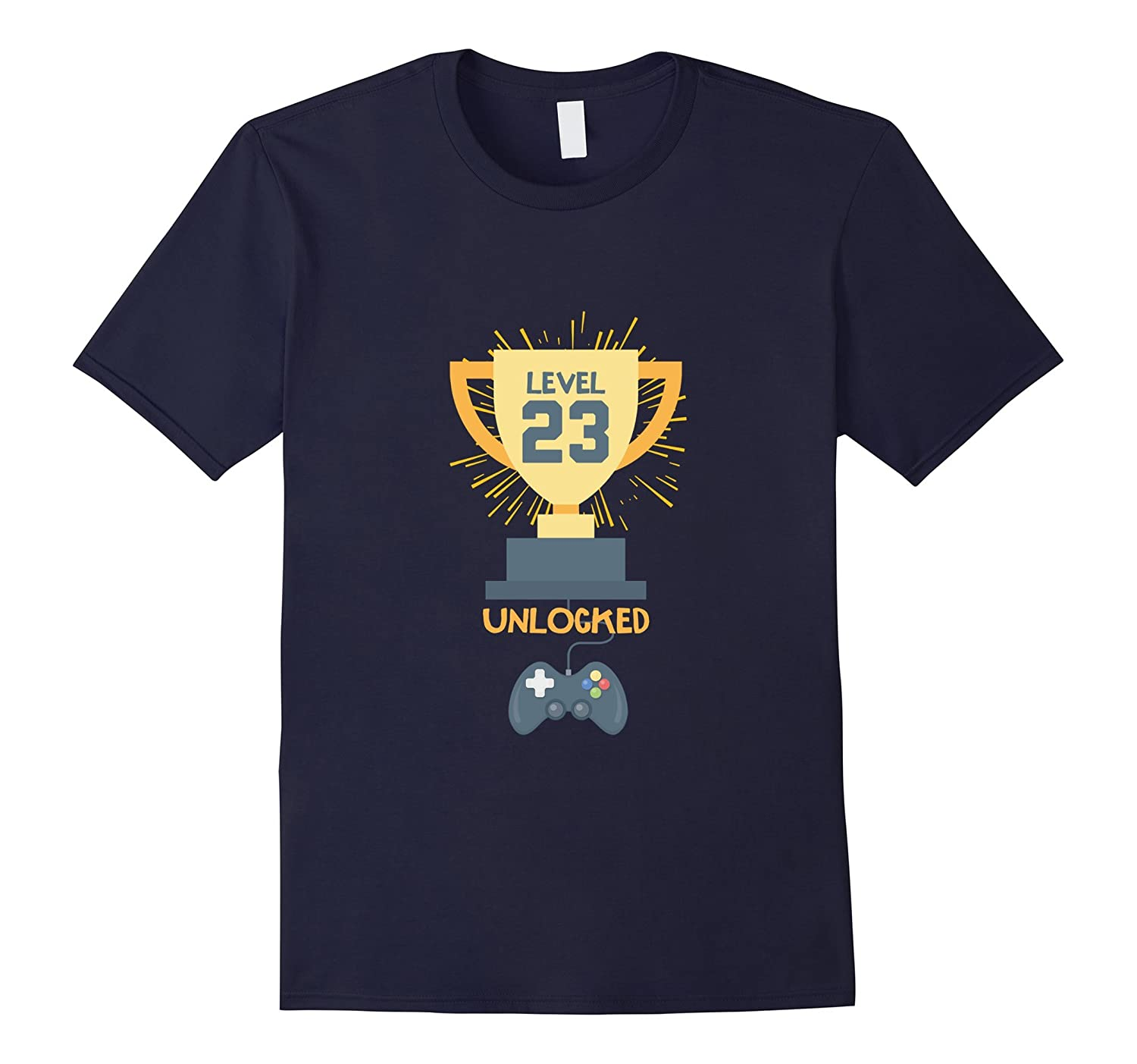 23rd Birthday Shirt Gift 23 Year Old Level Up Gamer Tshirt-T-Shirt