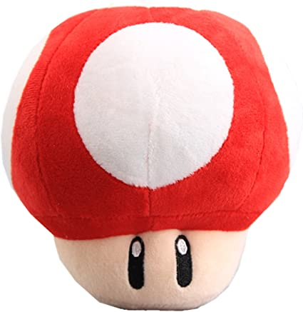 Amazon Com Uiuoutoy Super Mario Bros Red Super Mushroom Stuffed
