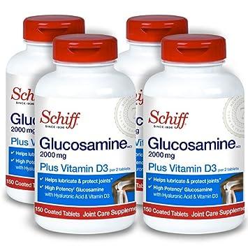 Amazon.com: Schiff Glucosamina 2000 mg con vitamina D3 y ...