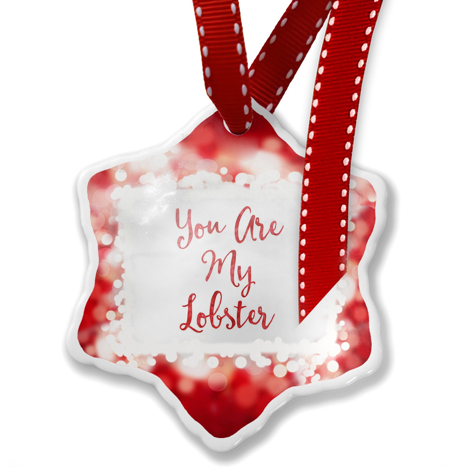 Amazon.com: NEONBLOND Christmas Ornament You are My Lobster ...