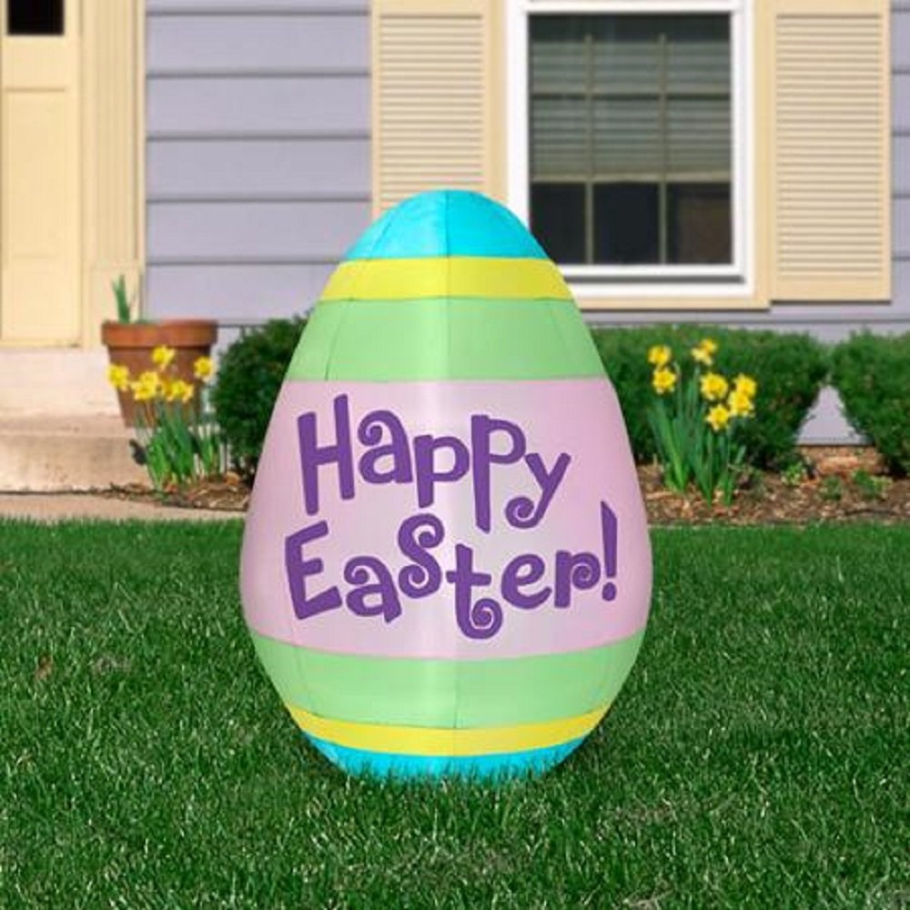 Amazon.com: 5.5u0027 Tall Happy Easter Egg Airblown Inflatable: Garden U0026 Outdoor