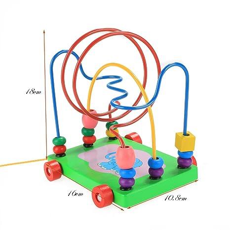 CRAVOG Motorikschleife Perlen Labyrinth Kinder Spielzeug Bead Maze ...