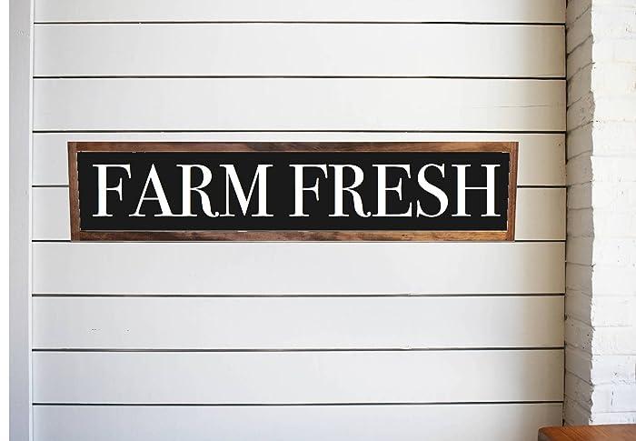 Amazon.com: Farm Fresh wood sign rustic distressed, Kitchen Pantry ...