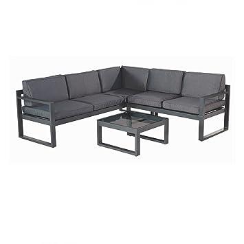 Amazon.de: Hartman Perpignan Lounge 3teilig Aluminium xerix ...