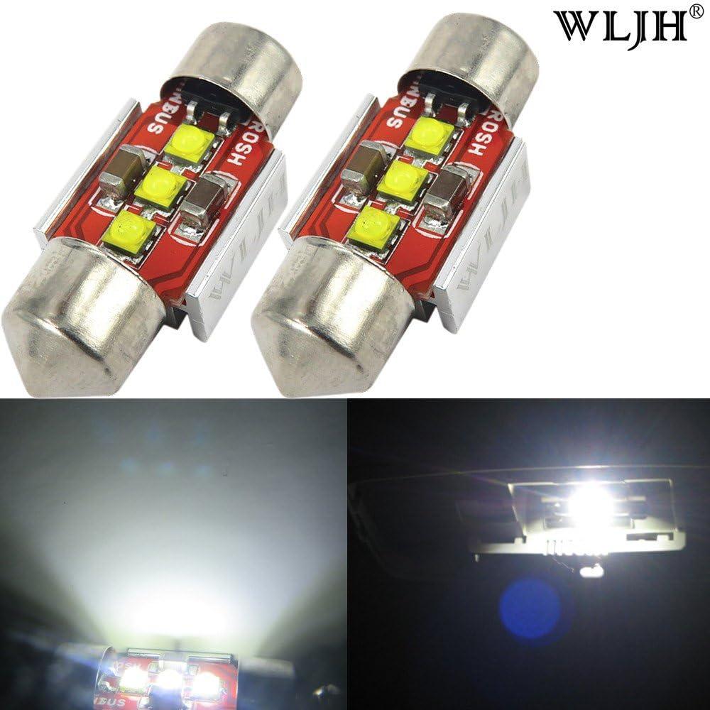 3175 LED Bulbs Pack of 4 DE3175 LED Bulb Yorkim 31mm Festoon LED Bulbs White Super Bright LED Interior Car Lights Error Free CANBUS 6-SMD 5730 Chipsets DE3022 LED