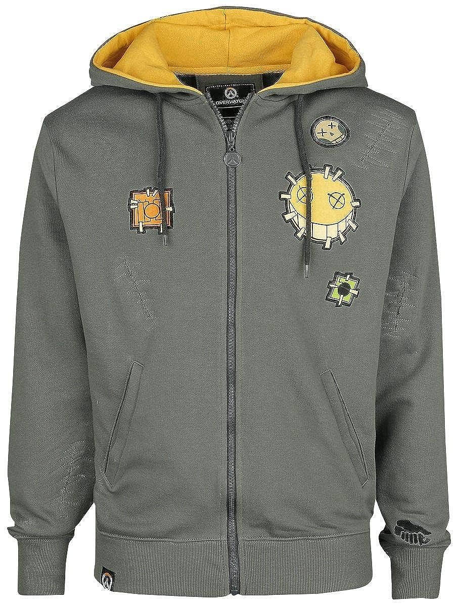 Overwatch Chacal H/éros Sweat-Shirt zipp/é /à Capuche Gris