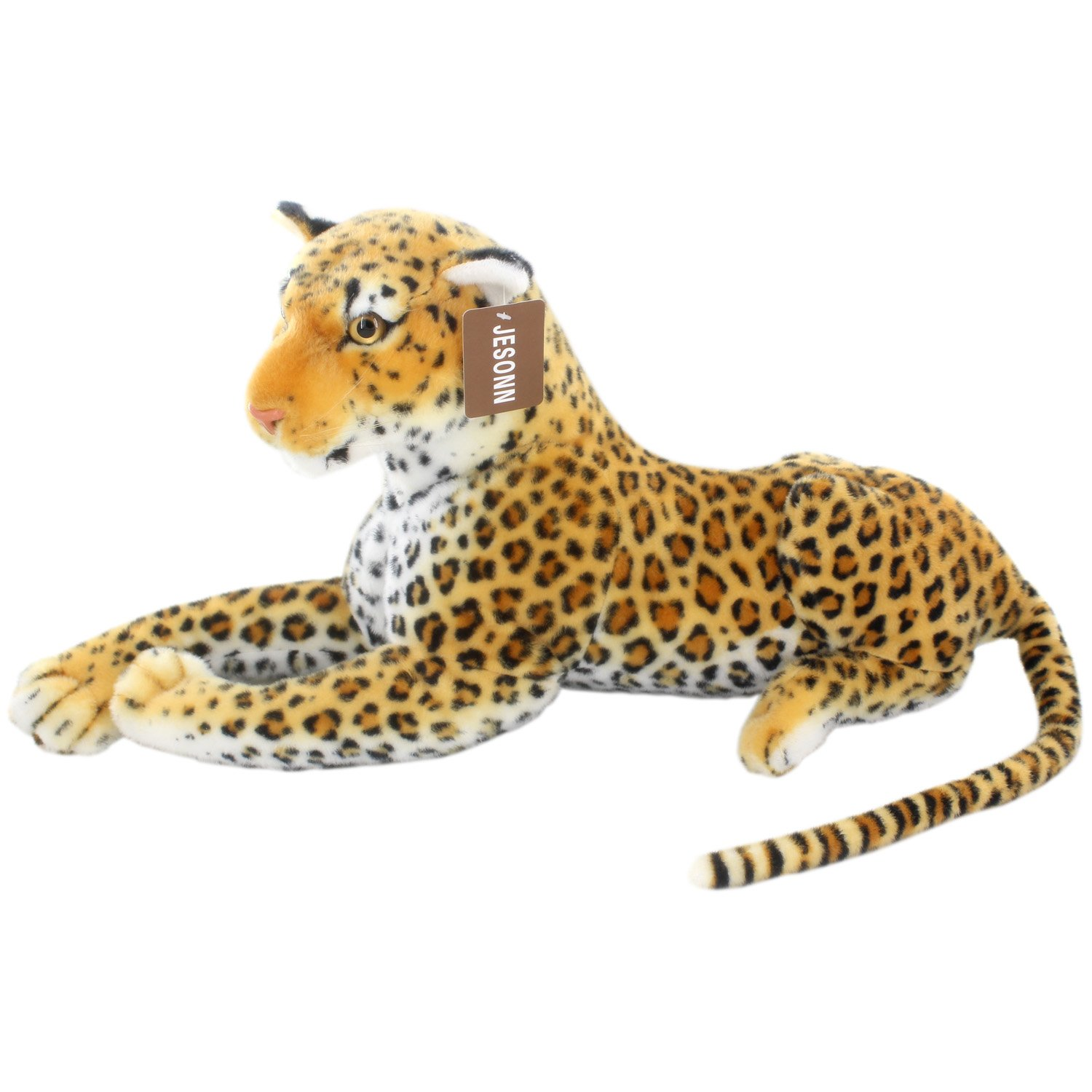 JESONN Realistic Giant Stuffed Animals Spotted Leopard Plush Toy for Children Birthday Gifts,27.5'' or 70CM,1PC by JESONN