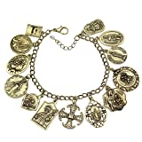 Amazon Price History for:Q&Q Fashion Catholic Religious Church Medals Charm Saints PRAY FOR US Cross Chain Bracelet Bangle