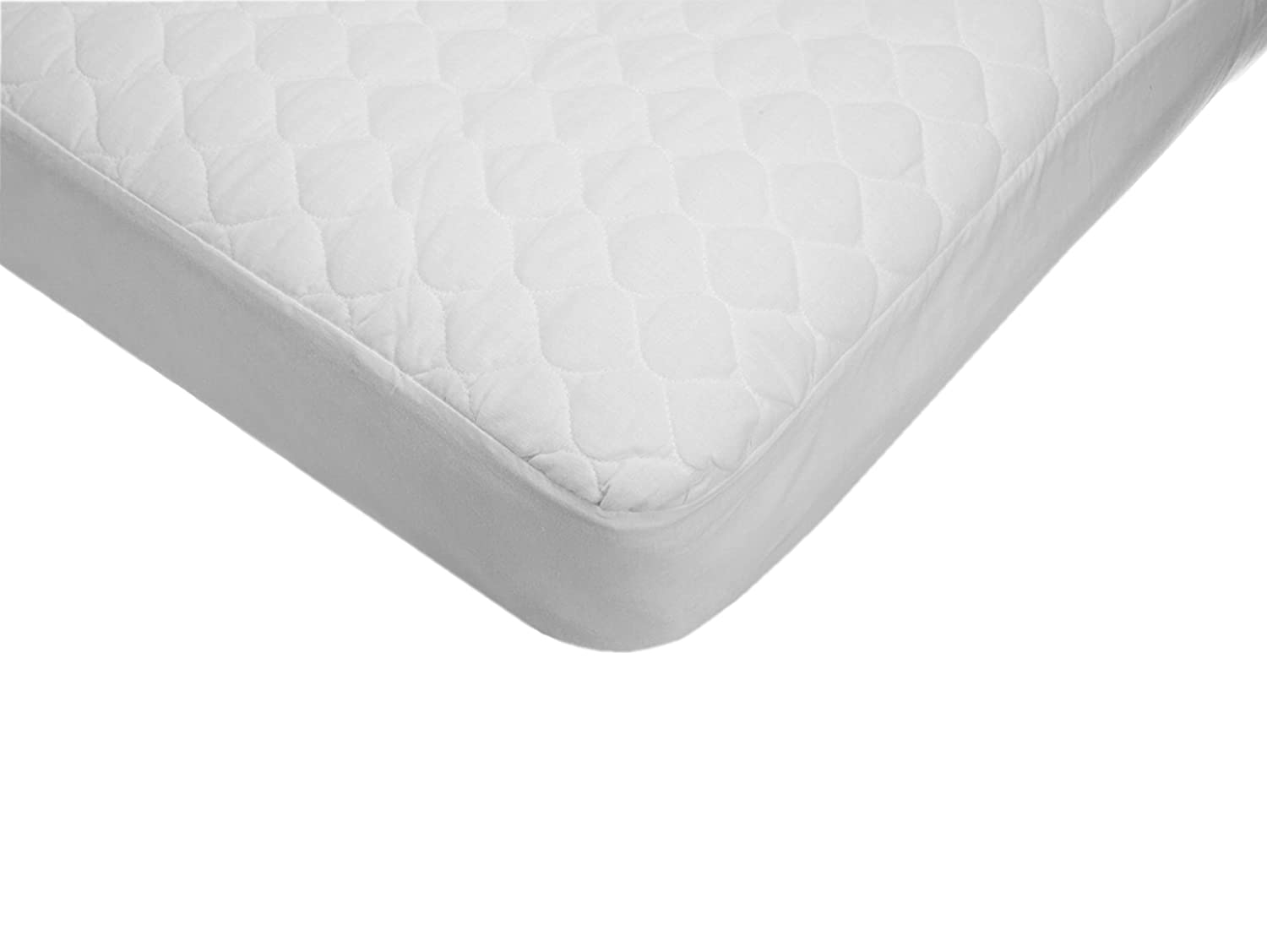 American Baby Company Waterproof fitted Quilted Portable/Mini Crib Mattress Pad Cover 2761