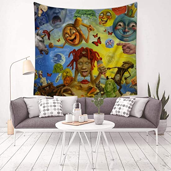 Trippie Tapestry Wall Hanging Wall Decor Home Decoration Dorm Decor 59.1x 59.1inch