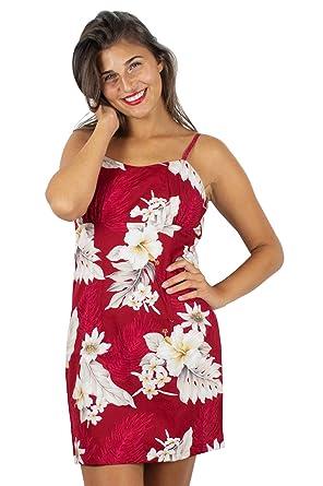 bbd3ea547 Pacific Legend   Original   Ladies   S-XXL   Summer Hawaii Hawaii Dress  Print Flower red - Red - XXL: Amazon.co.uk: Clothing