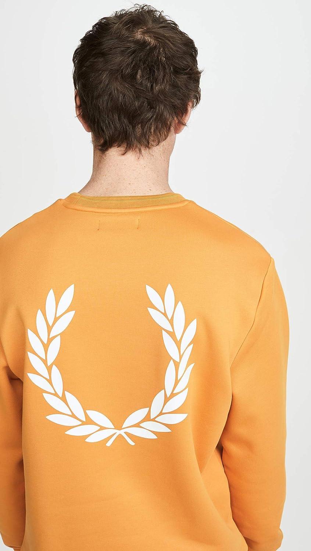 Fred Perry Mens Laurel Wreath Crew Neck Sweatshirt