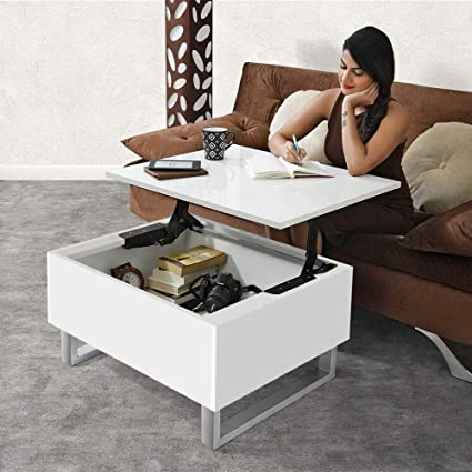 White Lift Up Coffee Table.Invisible Bed Coffee Table With Storage And Lift Up Tabletop Wool White