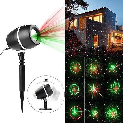 Navidad luz lámpara de proyector, 24 patrones Star Show de luz con ...