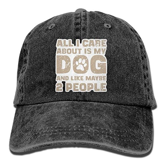 9169162fbe89d Amazon.com  Baseball Cap All I Care About Is My Dog - Adjustable ...