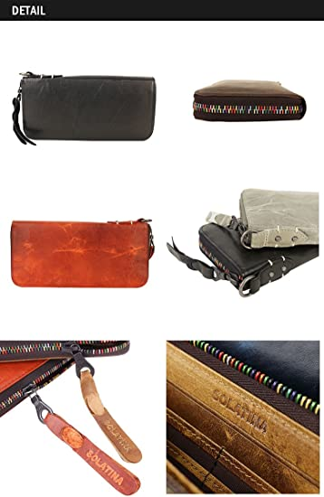 SOLATINA horse/_leather Long fiscal cloth SW-38153
